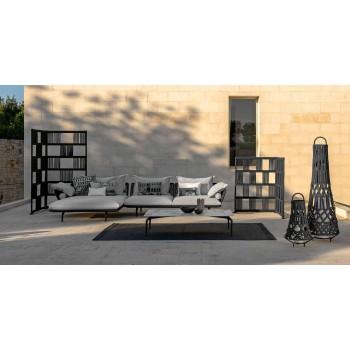 Divan i jashtëm modular i majtë në pëlhurë dhe alumin - Lundrim Alu Talenti