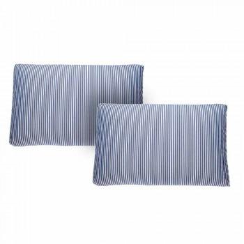 Divan me kopsht me 2 ulëse në jastëk alumini dhe blu të bardhë ose të zi - Cynthia