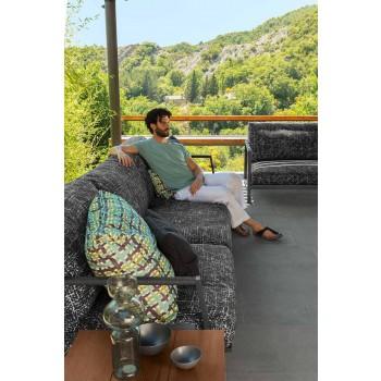 Sofje kopsht 3 vendësh në alumin dhe pëlhurë - Luksoze vilë nga Talenti