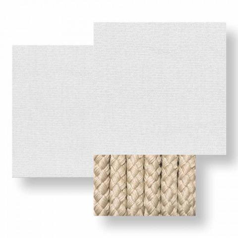Divan me kopsht 3 vendësh në pëlhurë të bardhë, bezhë ose gri - Cliff Decò Talenti