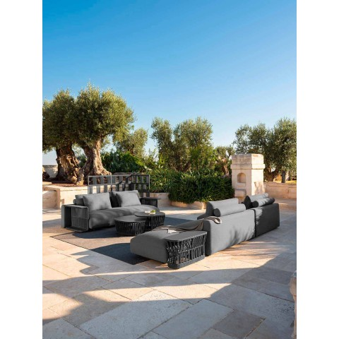 Divan kopsht me dizajn modern në pëlhurë - Cliff Decò nga Talenti