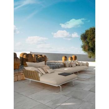 Divan i kopshtit modular djathtas në alumin dhe pëlhurë - Lundrim Alu nga Talenti