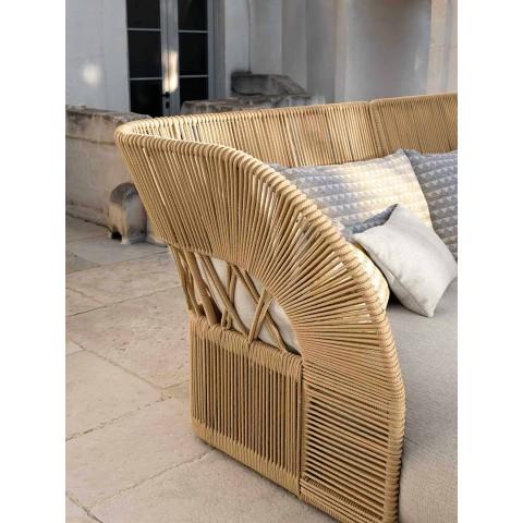 Divan me kopsht tre vendësh me dizajn modern - Cliff Decò nga Talenti