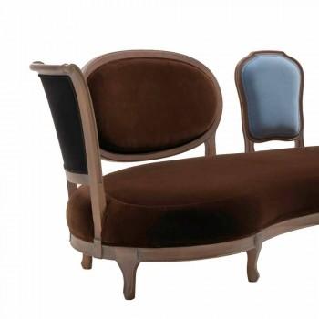 Divane dizajne luksoze, 5 mbështetëse druri të ngurta, të bëra në Itali, Manno