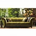 Dizajn 3 divan me tapiceri divan Grilli Shell punuar me dorë në Itali