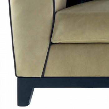 Dizajni divan me tapiceri 3 tapiceri nga Grilli Shell punuar me dorë në Itali