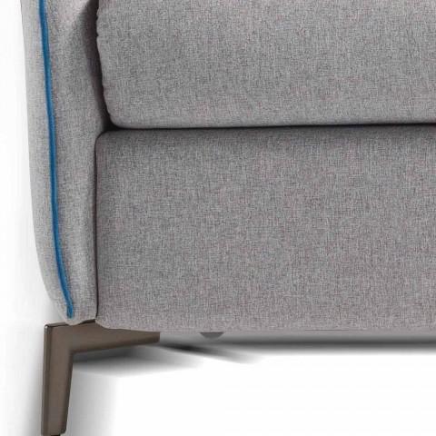 Divan me dy vende me dizajn modern L.145 cm eko-lëkurë / pëlhurë Erica
