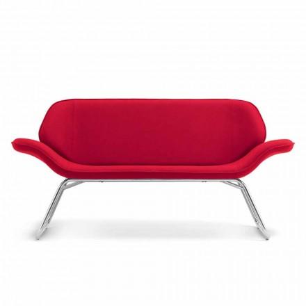 Dizajni moden duke pritur divanin në lëkurë faux bërë në Itali Cesare