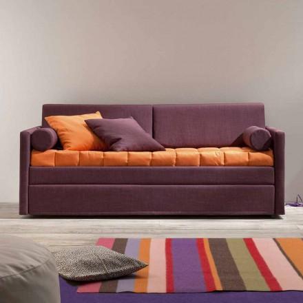 Divan me krevat marinari me dizajn i mbuluar në pëlhurë Made in Italy - Gretel