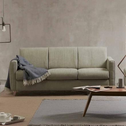 Shtrati me divan moderne Filippo i bërë prej pëlhure të prodhuar në Itali