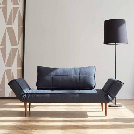 Krevati i divanit modern të modës Zeal nga Innovation në pëlhurë të veshur me susta