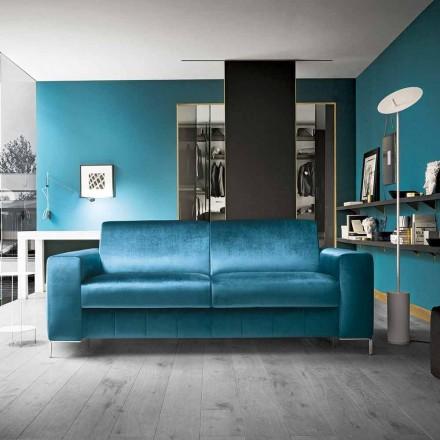 Shtrat divani në pëlhurë benzine me bazë të kromuar të prodhuar në Itali - Ranuncolo