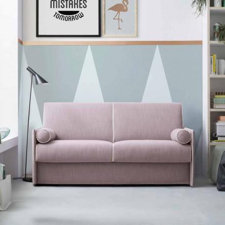 Krevat divani me pëlhurë rozë të zbehtë me kufi të bardhë të prodhuar në Itali - lulekuqe