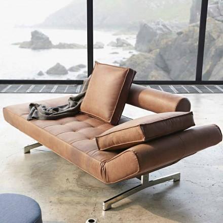 Ghia by Innovation krevat modern i sofistikuar i divanit me këmbë kromi