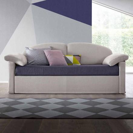 Krevat divan teke me kontejner të mbuluar me pëlhurë të prodhuar në Itali - Kayla