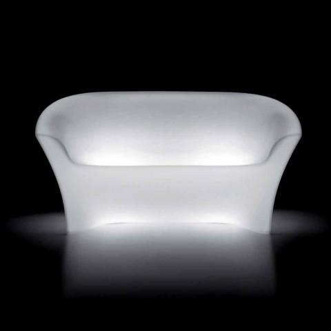 Divan i ndritshëm në natyrë në polietileni me dritë LED prodhuar në Itali - Conda