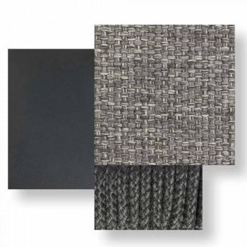Divan modular i zhdrejtë i majtë për alumin dhe pëlhurë në natyrë - Scacco Talenti