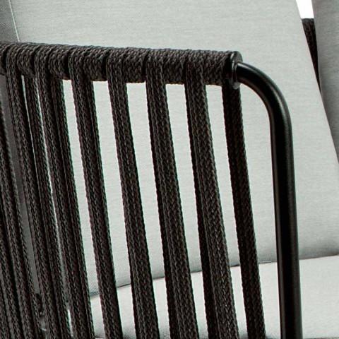 3 divan në natyrë 3 vendesh në metal, litar dhe pëlhura të bëra në Itali - Mari