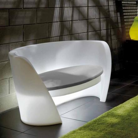 Dizajn divani shtëpie në polietileni Slide Rap, prodhuar në Itali