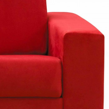 Divan tre-vendësh dizajn modern në eko-lëkurë / pëlhurë e bërë në Itali Mora