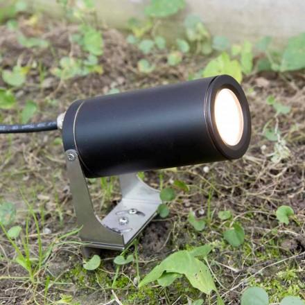 Ndriçimi i kopshtit në alumin të zi anodizuar me LED prodhuar në Itali - Forla