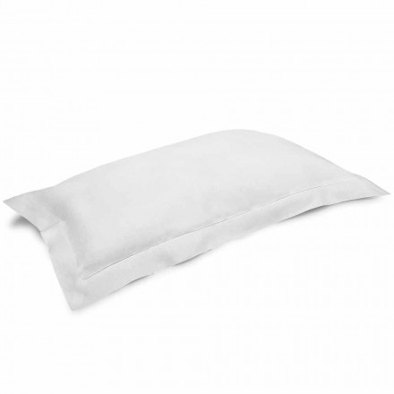 Jastëkë jastëkësh në krem të bardhë të pastër prej liri të bëra në Itali - lulekuqe