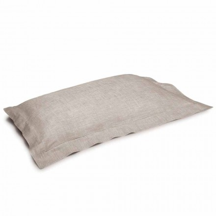 Jastëk jastëk me ngjyrë të pastër prej liri të prodhuar në Itali - lulekuqe