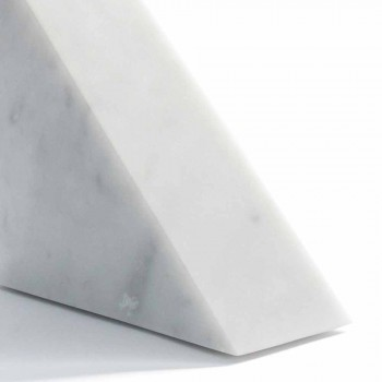 Bookend mermeri modern i bardhë Carrara i bërë në Itali - Tria