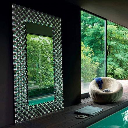 Fiam Italia Kati i mprehtë / mur pasqyrë e varur 216x116 cm, e bërë në Itali