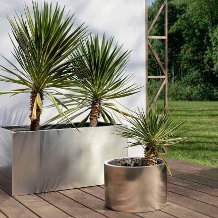 Mbjellës kopshtesh me dizajn të rrumbullakët ose drejtkëndëshe në çelik i prodhuar në Itali - Philly
