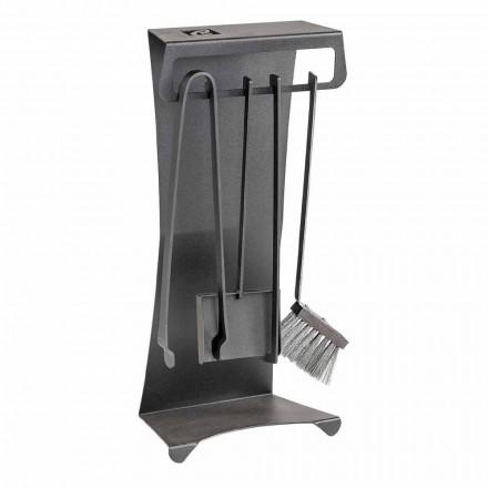 Set prej 4 Prodhuar në Itali Mjete Fireplace për Çelik - Llambadar