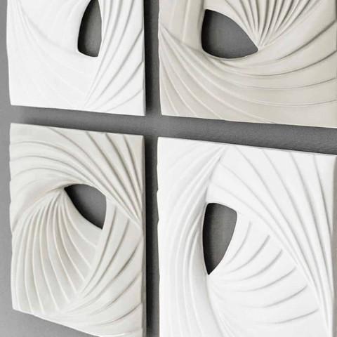 Dizajn i Bardhë dhe Gri Moderne Instalimi dekorativ i murit - Bossy