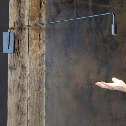 Llambë muri në natyrë në hekur me LED të rregullueshme prodhuar në Itali - Forla