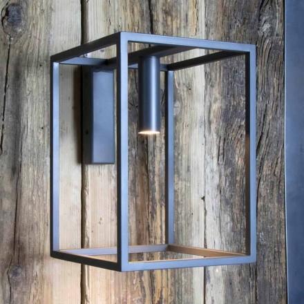 Llambë muri në natyrë në hekur dhe alumin me LED prodhuar në Itali - Cubola
