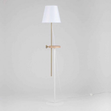 Dizajni llambë dyshemeje në çelik, hiri dhe bronzi prodhuar në Itali - Pitulla