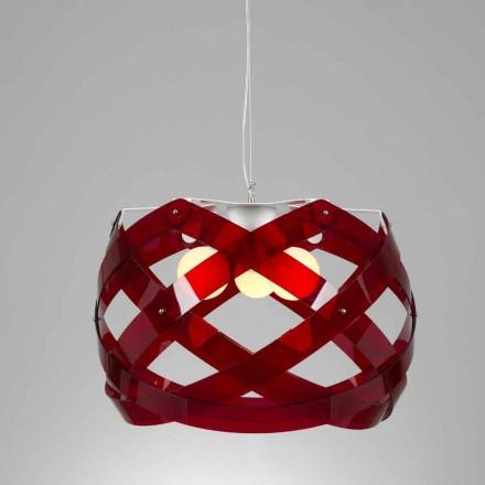 Dizajn modern llambë varëse me metakrilate 3-llamba Vanna, dietë 67 cm.