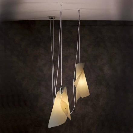 Dizajn modern llambë varëse me dy drita Chrome