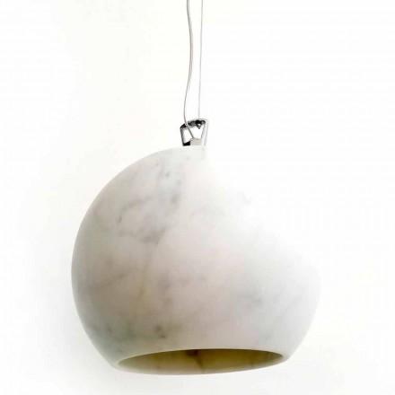 Llambë Pezullimi Dizajnimi në Mermer të Bardhë Carrara Prodhuar në Itali - Panda
