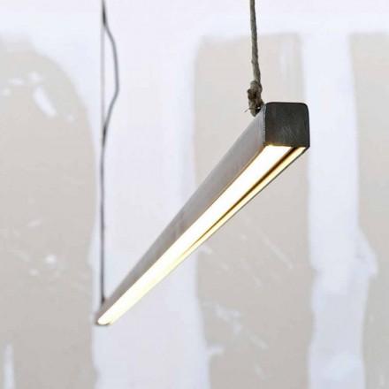Llambë pezullimi në hekur dhe litar me LED të integruar të prodhuar në Itali - Stecca