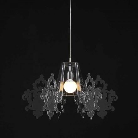 Dizajn modern llambë varëse metakrilate Alessia, diam. 70 cm