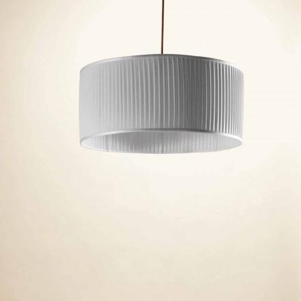 Dritë varëse prej mëndafshi gri moderne Bamboo, ø 50 cm
