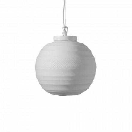 Llambë pezullimi në xham të bardhë saten në 2 madhësi të dizajnit - Morse