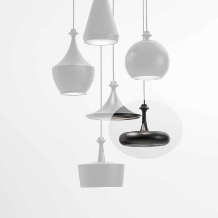 Llambë pezullimi LED E prodhuar në Itali në Qeramikë - L4 sequins Aldo Bernardi