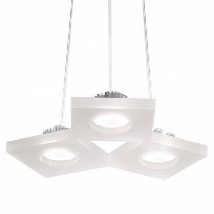 Llamba varëse me dizajn modern Nella, metakrilat saten i bardhë L27xW23 cm