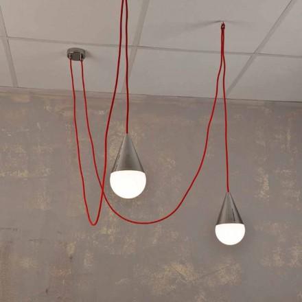 Llambë varëse me dy drita Chrome, me kordon të kuq të dritës