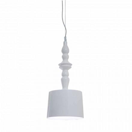 Hija e llambës së pezullimit të shkurtër me dizajn qeramik me shkëlqim të bardhë - Kadabra