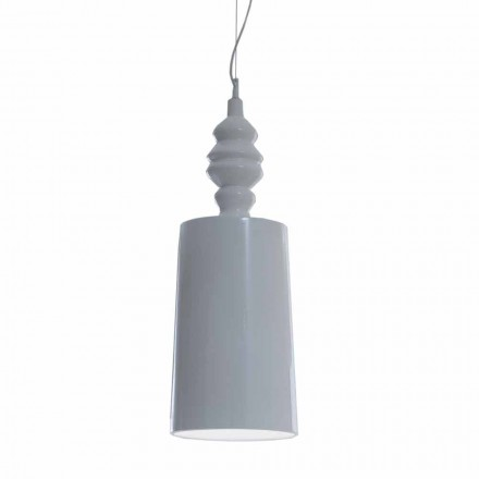 Hija e llambës së pezullimit në modelin me shkëlqim të bardhë qeramike - Kadabra