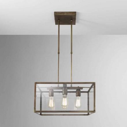 Dritë katror i varur me stil industrial London Il Fanale