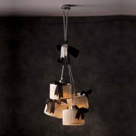 Dizajn i cilësisë së mirë 4-dritë llambë varëse mëndafshi Chanel
