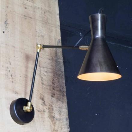 Llambë hekuri e punuar me dorë me hije alumini prodhuar në Itali - Selina